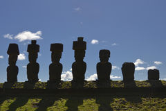 Moai - Monolithic human statues (Chile) Royalty Free Stock Photography