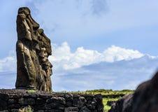 Moai na Easter wyspie, Chile Obraz Royalty Free
