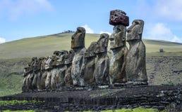 Moai na Easter wyspie, Chile Fotografia Royalty Free