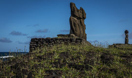 Moai na Easter wyspie, Chile Obraz Royalty Free