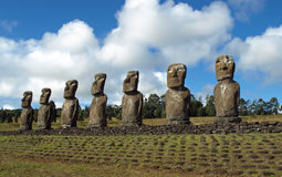 Moai na Wielkanocnej Wyspie Obraz Royalty Free