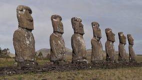 Moai op het Eiland van Pasen Royalty-vrije Stock Fotografie