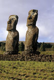 Moai- Ostern Insel, Chile Lizenzfreie Stockfotos