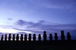 Moai- Ostern Insel, Chile lizenzfreie stockbilder
