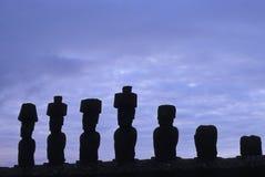 Moai- Ostern Insel, Chile stockfoto