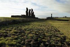 Moai- Ostern Insel, Chile stockfotos