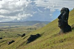 Moai på påskön Royaltyfri Fotografi