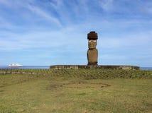 Moai påskö fotografering för bildbyråer
