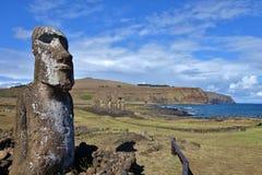Moai przy Wielkanocną wyspą Zdjęcia Royalty Free