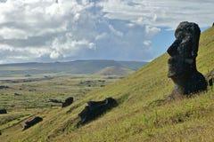 Moai przy Wielkanocną wyspą Fotografia Royalty Free