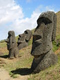 Moai Quarry on Easter Island. Or Rapa Nui Stock Photos