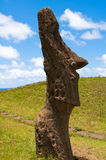 Moai at Rano Raraku, Easter island Royalty Free Stock Photography