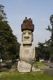 Moai in Santiago doet Chili Stock Afbeelding
