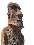 Moai sculpture isolated Royalty Free Stock Photography