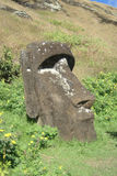 Moai sepolto Fotografie Stock Libere da Diritti