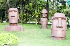Moai. Simulator, which is located at a hotel Royalty Free Stock Photo