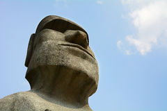 Moai on sky background Royalty Free Stock Images