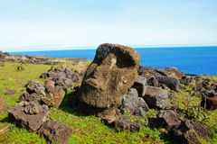 Moai statua Obrazy Royalty Free