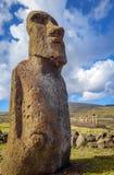 Moai statua, ahu Tongariki, Easter wyspa Zdjęcie Stock