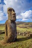 Moai statua, ahu Tongariki, Easter wyspa Obraz Royalty Free