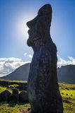 Moai statua, ahu Tongariki, Easter wyspa Fotografia Royalty Free