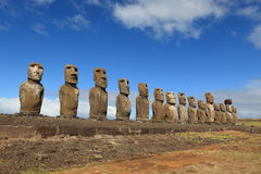 Moai Statue at Easter Island Stock Image