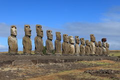 Moai Statue at Easter Island Royalty Free Stock Photos