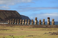Moai Statue at Easter Island Royalty Free Stock Photo