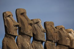 Moai Statue at Easter Island Stock Photos