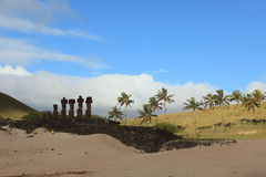 Moai Statue at Easter Island Royalty Free Stock Photography