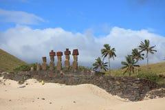 Moai Statue at Easter Island Stock Photo