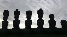 Moai Statue in Easter Island Royalty Free Stock Photos