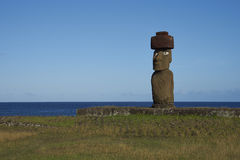 Moai statue, Easter Island, Chile Stock Photo