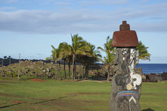 Moai statue, Easter Island, Chile royalty free stock photography