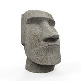 Moai Statue Isolated. On white background. 3D render stock photos