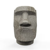 Moai Statue Isolated. On white background. 3D render Royalty Free Stock Photography