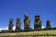 Moai statues Royalty Free Stock Photos