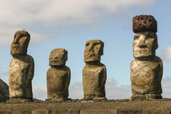 Moai statues at Ahu Tongariki, Easter Island Stock Image