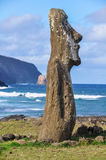 Moai statues in Ahu Tongariki, Easter Island, Chile Royalty Free Stock Image