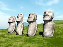 Moai Statues Stock Photography