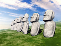 Moai Statues Stock Photos