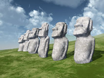 Moai Statues Royalty Free Stock Images