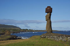 Moai statues, Easter Island, Chile Royalty Free Stock Images
