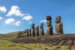 Moai statuy Ahu Tongariki - Wielkanocna wyspa, Chile Obrazy Royalty Free