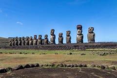 Moai statuy Ahu Tongariki - Wielkanocna wyspa, Chile Obraz Royalty Free