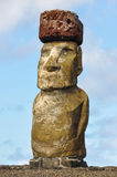 Moai statuy w Ahu Tongariki, Wielkanocna wyspa, Chile Zdjęcia Stock
