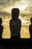 Moai statuy w Wielkanocnej wyspie, Chile Obraz Stock