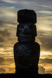 Moai statuy w Wielkanocnej wyspie, Chile Zdjęcie Stock