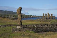 Moai statuy, Wielkanocna wyspa, Chile Zdjęcie Stock
