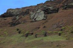 Moai staty på påskön Fotografering för Bildbyråer
